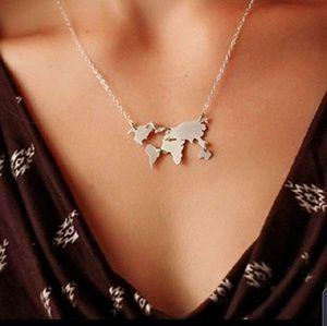Jewelry - World Map Necklace